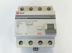Выключатель диф. тока 4п УЗО EKF