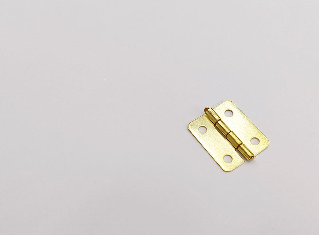 Петля для шкатулки с закруглёнными углами, золото 1,7*1,9 см