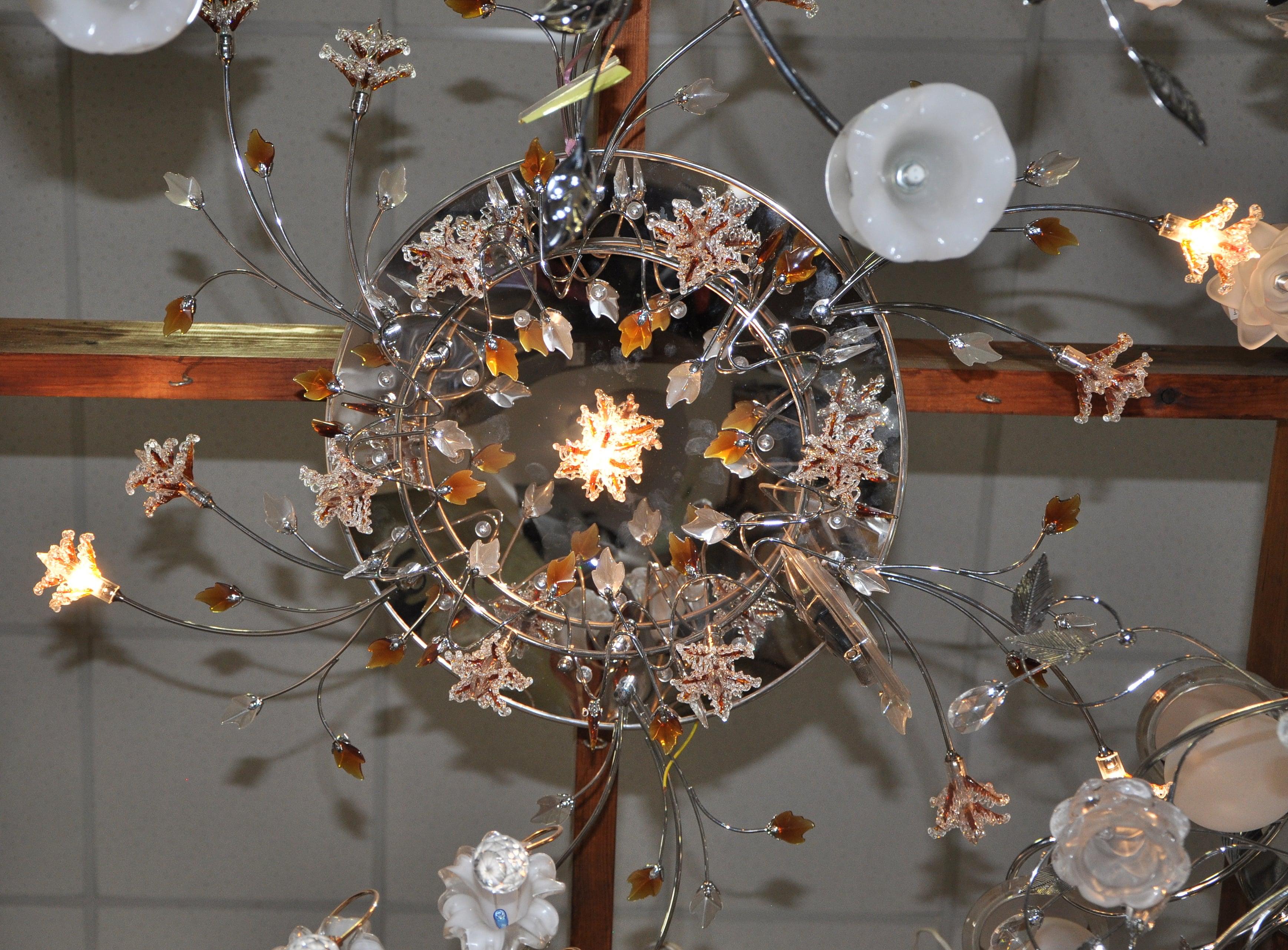 """Люстра """"Флора"""" 1-8338-19-GR-LED Y G4"""