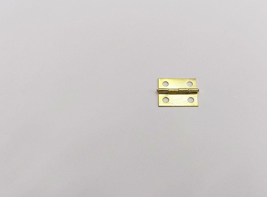 Петля для шкатулки, металл с прямыми углами, золото 1*1,5 см