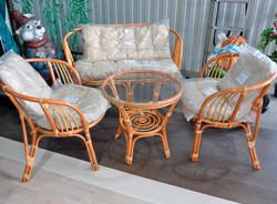 """Комплект """"Кофейный"""" стол + 2 кресла + диван + подушки"""