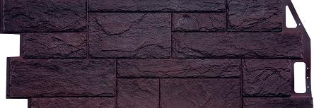 Камень природный коричневый