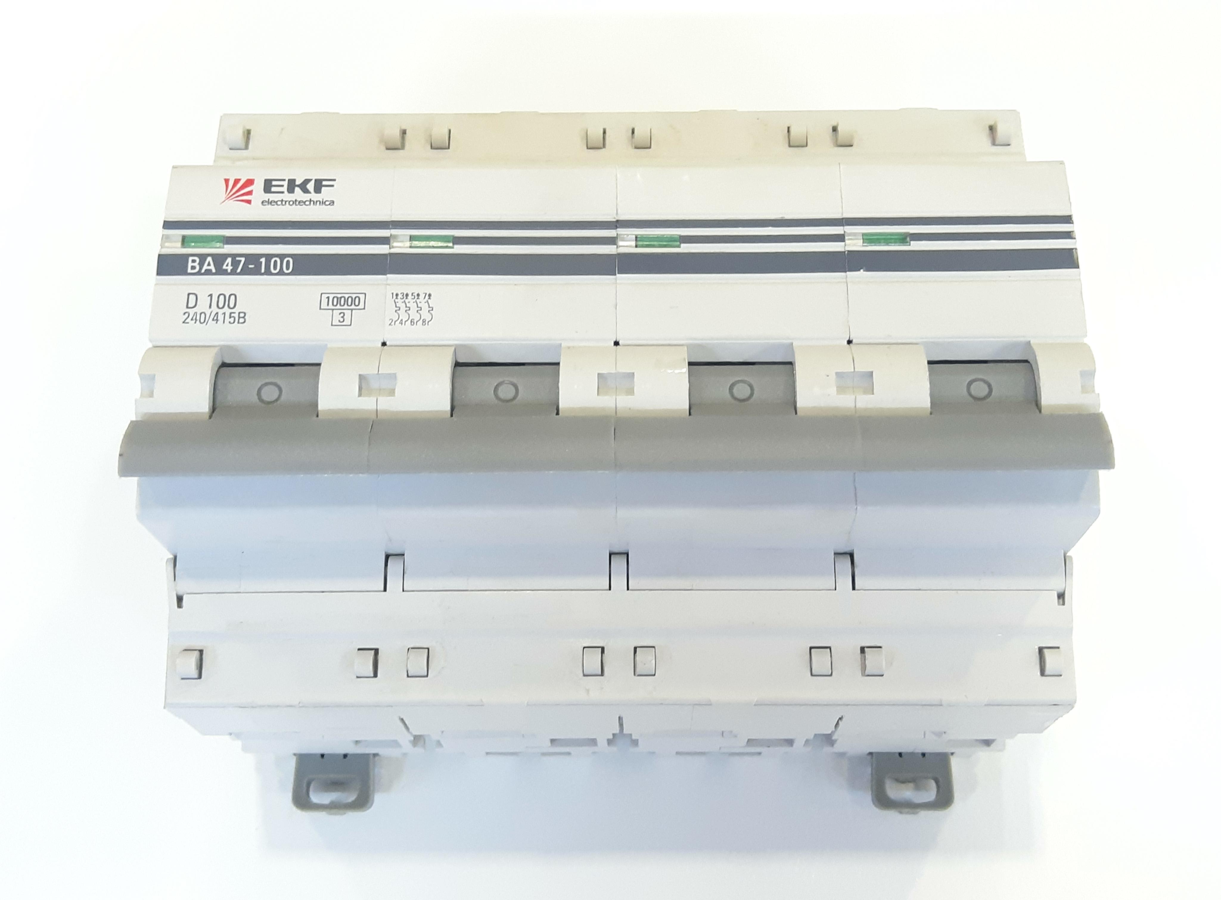 Выключатель автомат. EKF 47-100 4п.