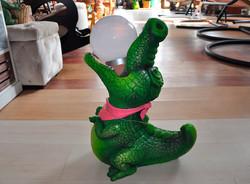 """Фигура садовая """"Крокодил с солнцем""""+ светильник"""