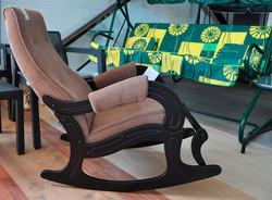 Кресло-качалка с подножкой, Verona Brown