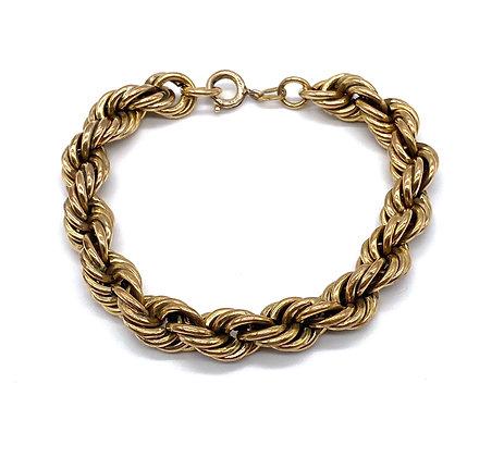 Bracelet torsadé plaqué or
