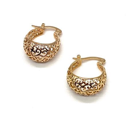 Boucles d'oreilles plaquées or