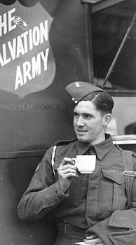 WWII Soldier Drinking Coffee