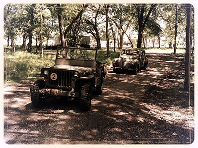 Willys Jeep and 1941 Plymouth Staff Car