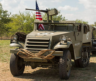 History Alive Gainesville Texas Battle for Crucifix Hill Halftrack