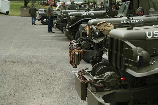 WWII Military Vehicle Line Up