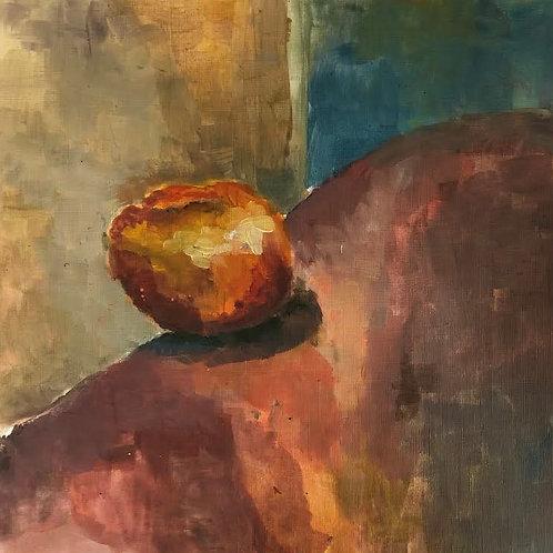 Judith Marty - Der Apfel Acrylgemälde 30x30cm gerahmt