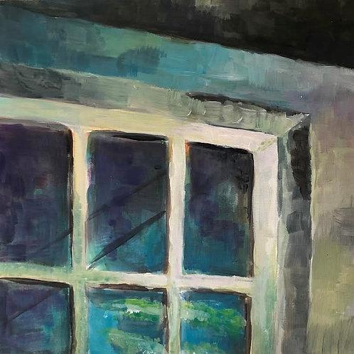 Judith Marty - Fensterrahmen Acrylgemälde  30x30cm gerahmt