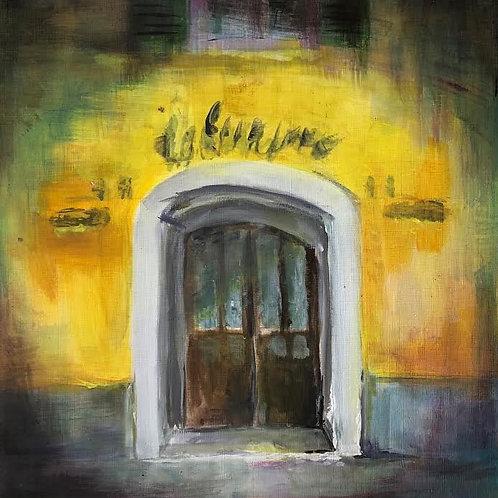 Judith Marty - Das Tor Gemälde  30x30cm gerahmt