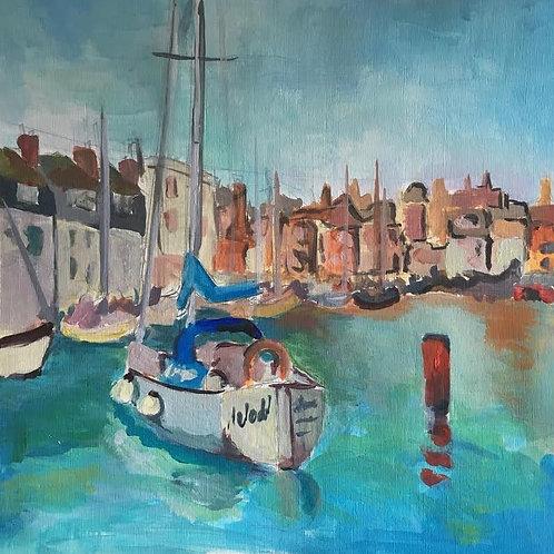 Judith Marty - Venedig  Acrylgemälde 30x30cm gerahmt