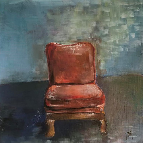 Judith Marty - Der Stuhl Acrylgemälde  30x30cm gerahmt