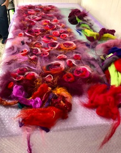 felt wool whirls