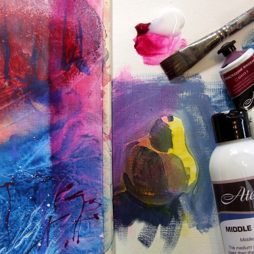 Using Chroma Mediums for Painting with Acrylic Workshop with Tricia Reust