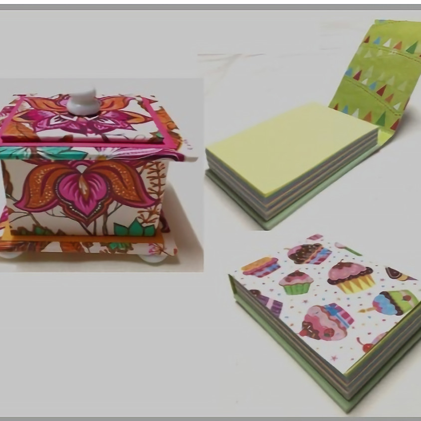 BEAUTIFUL BOXES & NIFTY  NOTEBOOKS WORKSHOP with Robin Jensen