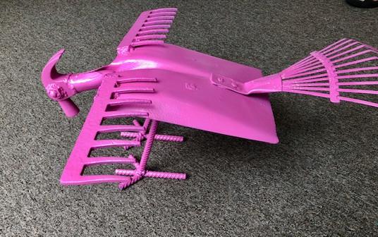 pink bird made from shovel.jpg