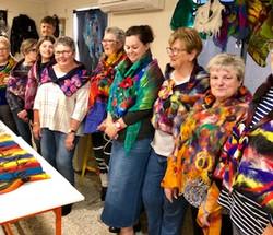 felt people in shawls