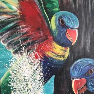 Min's lorikeets painting.jpg