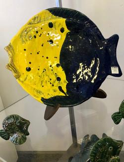 Ceramic fish yellow