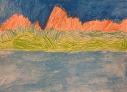 GLASSHOUSE MOUNTAINS - VEIW FROM BRIBIE BRIDGE