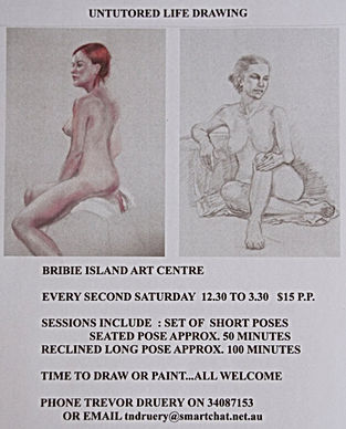 UNTUTORED LIFE DRAWING SATURDAYS with TR