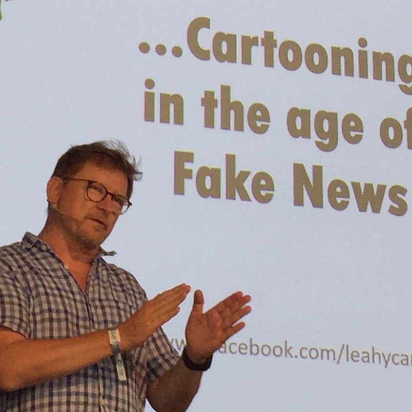 HEAR all you wanted to Know about CARTOONING at Leahy's Cartoon History of Current Events
