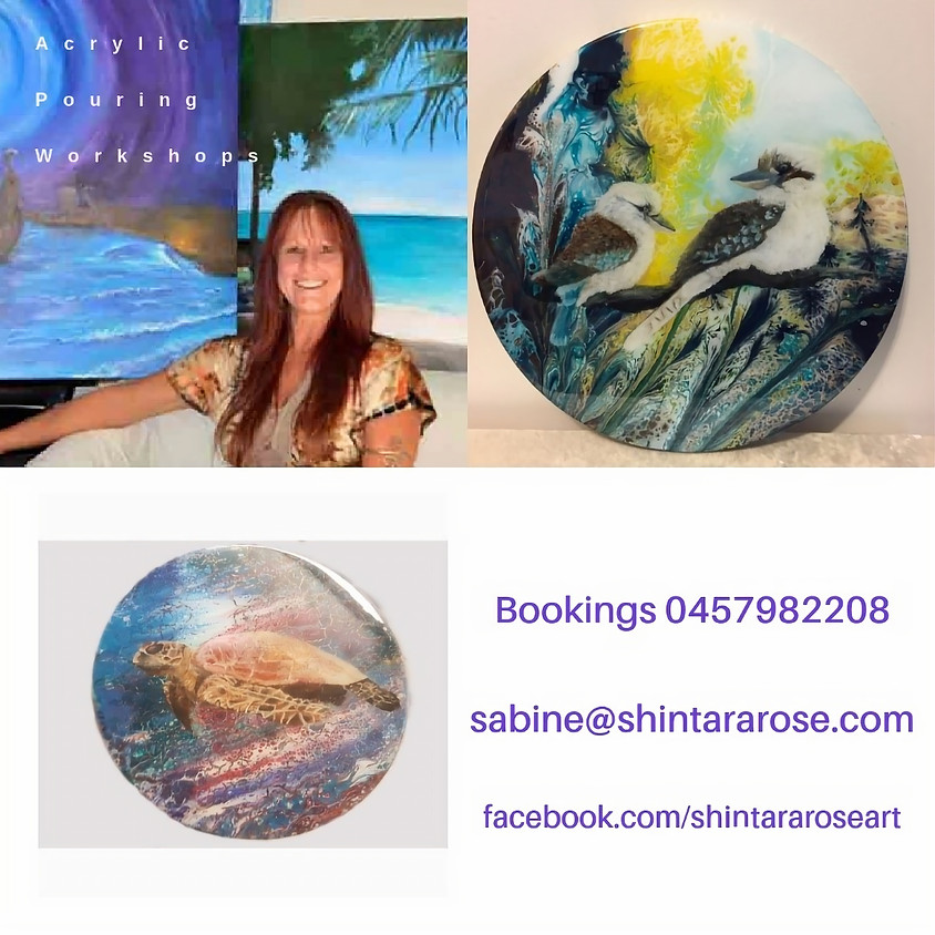 Acrylic Pouring Fun Workshop! Express your inner child!
