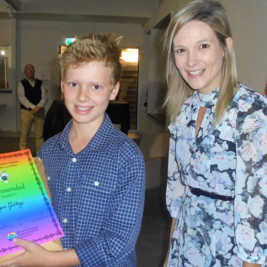 angus Gilbey commended 8 - 11 age with B