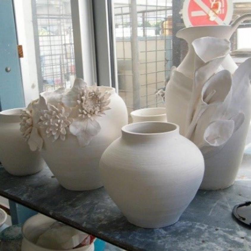 Sculpture class in clay
