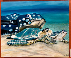 turtles painting