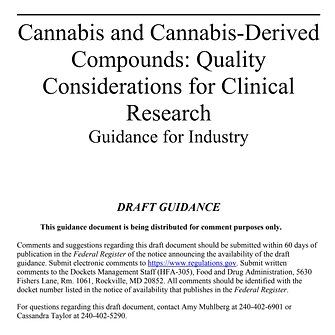 FDA Cannabis
