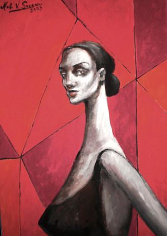 Mujer con malla
