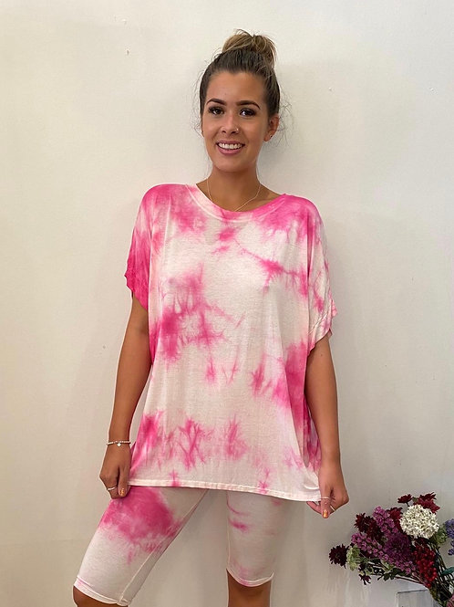 Tie Dye Tee and Cycling Shorts Co-ord