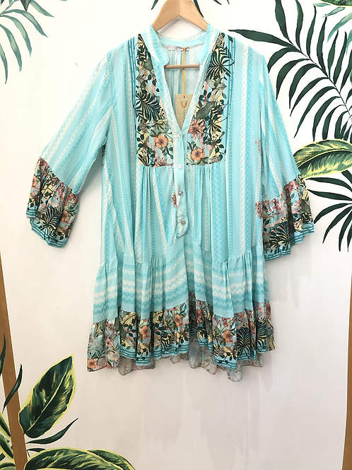 Floral Tiered Smock Top