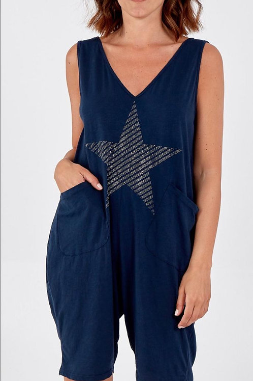Sparkly Star Short Dungarees