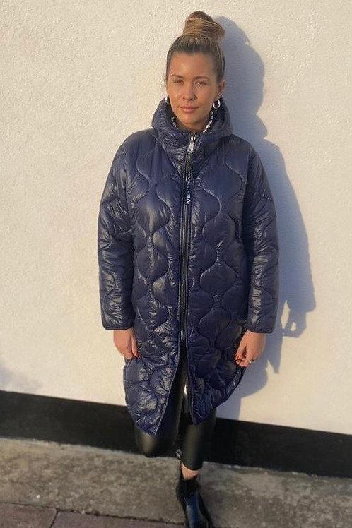 Lightweight Hooded Puffa Coat