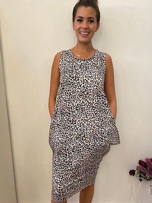 Sleeveless Balloon Dress