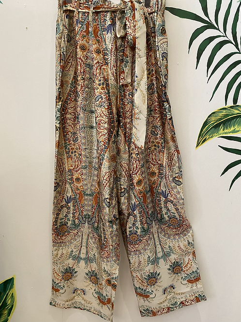 Silky Wide Leg Pull on Trousers