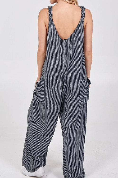 Stripe Two Pocket Jumpsuit
