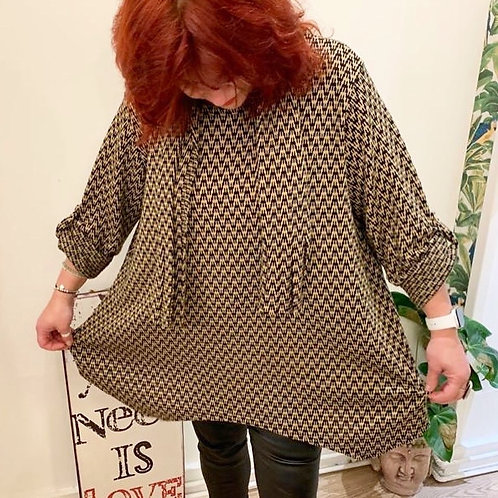 Tunic Top with matching scarf
