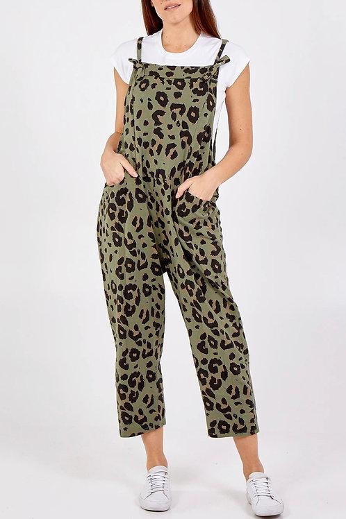 Leopard Print Dungarees