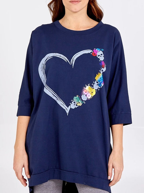 Heart and Flowers Top