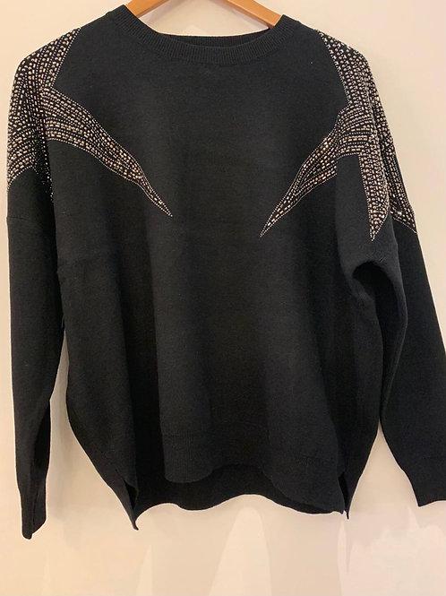 Star Shoulder Sweater
