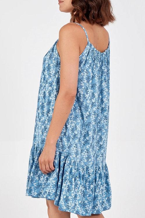 Ditsy Strappy Mini Dress