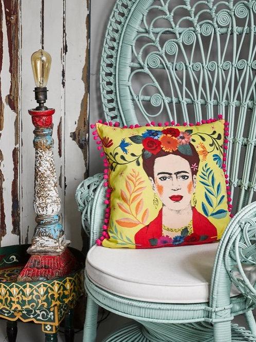 Frida Kahlo Pom Pom Cushion