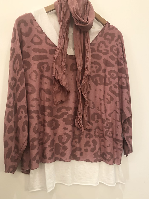 Casual 3 in 1 top (vest top scarf)